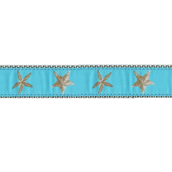Aqua Starfish 3/4 & 1.25 inch Dog Collar, Harness.
