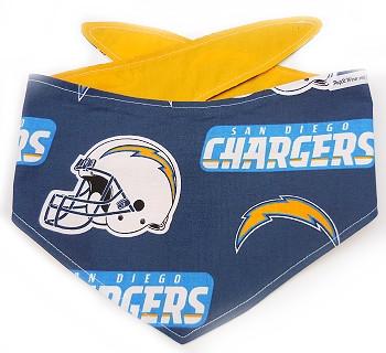 San Diego Chargers NFL Dog Bandanas