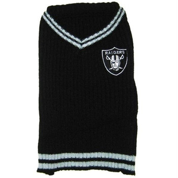 Oakland Raiders Pet Sweater