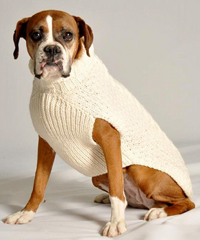 Natural Cable Knit Dog Sweaters