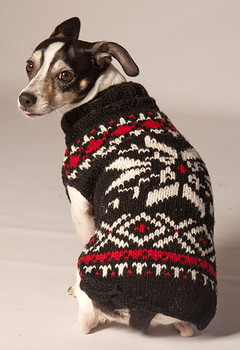 Black Snowflake Knit Dog Sweaters