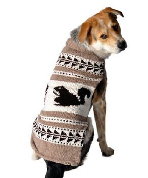 Cowichan Tan Squirrel Shawl Knit Dog Sweaters