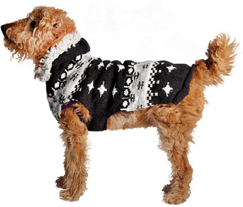 Gray Parka Hoodie Knit Dog Sweaters