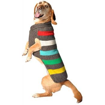 Charcoal Stripe Hand Knit Dog Sweaters
