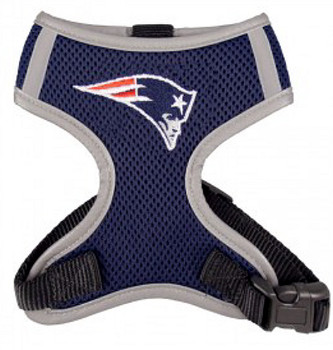 NFL New England Patriots Dog Mesh Harness - Big Dog Sizes Too!
