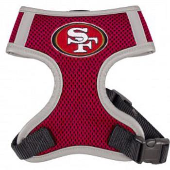 NFL San Francisco 49ers Dog Mesh Harness - Big Dog Sizes Too!