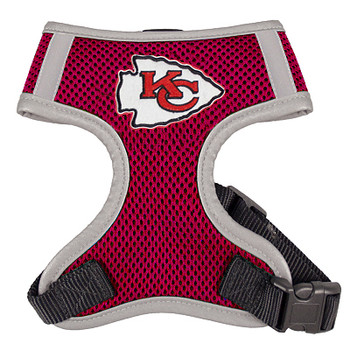 NFL Kansas City Chiefs Dog Mesh Harness - Big Dog Sizes Too!