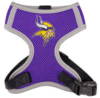 NFL Minnesota Vikings Dog Mesh Harness - Big Dog Sizes Too!