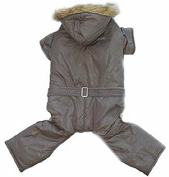 Bomber Fleece Lined Dog Jumper or Snowsuit - Gray