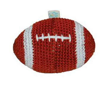 Football PAWer Squeaker Dog Toy
