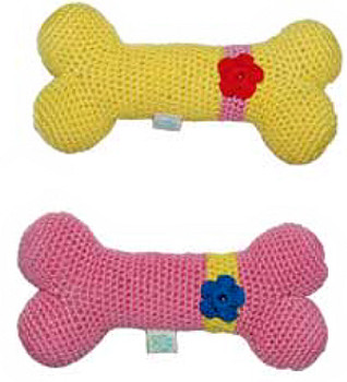 Flower Bone PAWer Squeaker Dog Toy
