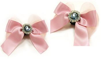 EasyBow Vintage Powder Pink Dog Collar Flowers