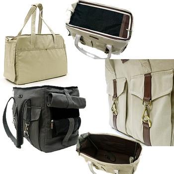 Buckle Tote V2 Dog Carrier - Beige or Charcoal
