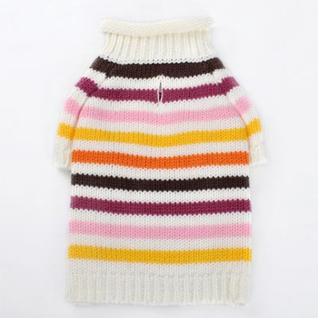 Colorful Stripe Dog Sweater - Pink