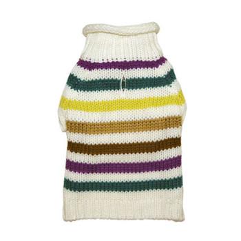 Colorful Stripe Dog Sweater - Blue