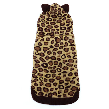 Leopard Hoodie Dog Sweater