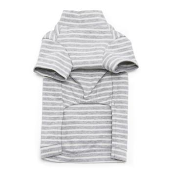 Basic Stripe Gray Dog T-Shirt