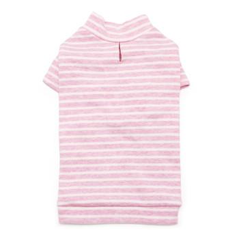 Basic Stripe Pink Dog T-Shirt