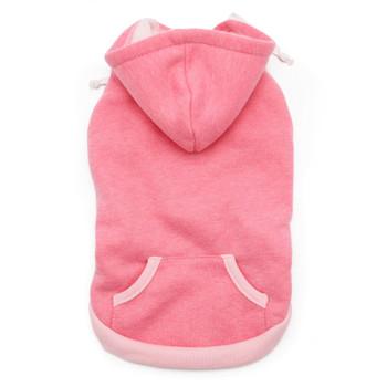 Drawstring Pink Dog Hoodie