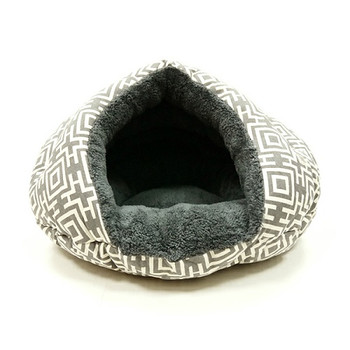 Burger Burrowing Pet Dog Bed - Modern Gray