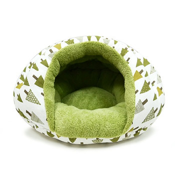 Burger Burrowing Pet Dog Bed - Green Tree