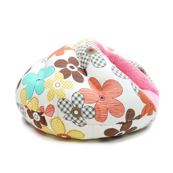 Burger Burrowing Pet Dog Bed - Color Flower