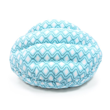 Burger Burrowing Pet Dog Bed - Blue Diamond