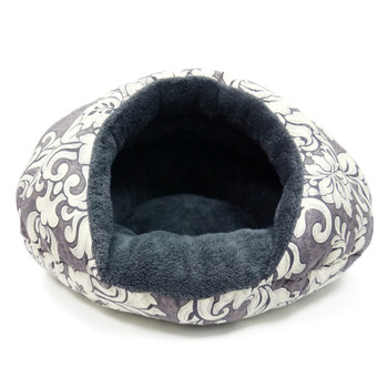 Burger Burrowing Pet Dog Bed - Gray Vintage