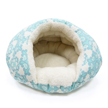 Burger Burrowing Pet Dog Bed - Blue Flakes