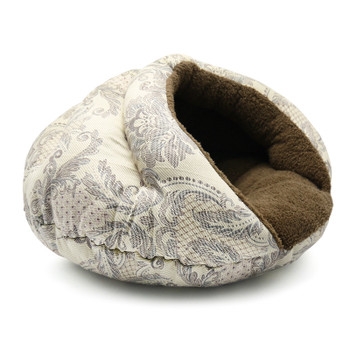 Burger Burrowing Pet Dog Bed - Brown Baroque