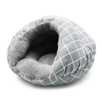 Burger Burrowing Pet Dog Bed - Gray Lattice