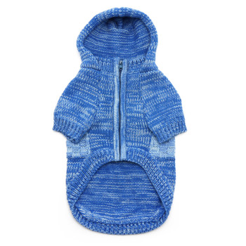 Blue Colorblock Dog Sweater Coat