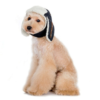 Denim Trapper Pet Dog Hat