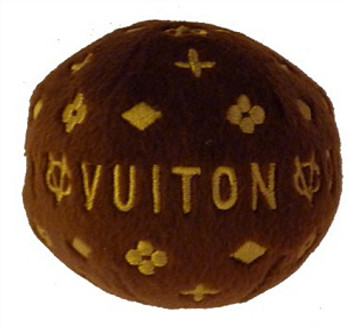 Chewy Vuiton Ball Plush Dog Toy