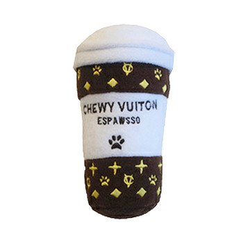 "Chewy Vuiton ""Espawsso"" Plush Dog Toy"