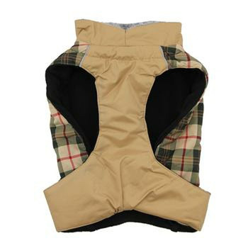 Beige Plaid Alpine All Weather Dog Coat