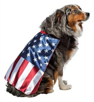 US Flag Cape Dog Costume