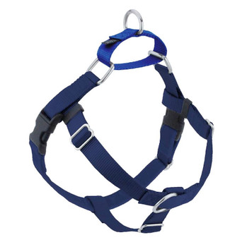 Navy Blue Freedom No-Pull Dog Harness & Optional Leads