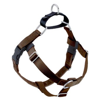 Brown Freedom No-Pull Dog Harness & Optional Leads