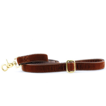 Brown Swiss Velvet Dog Leash