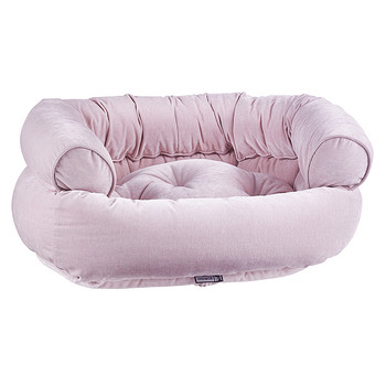 Blush Microvelvet Double Donut Pet Dog Bed