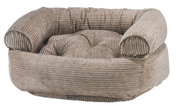 Wheat Microcord Double Donut Pet Dog Bed