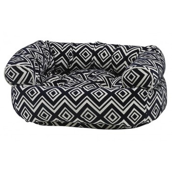 Azure Microvelvet Double Donut Pet Dog Bed