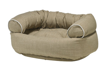 Flax Microlinen Double Donut Pet Dog Bed
