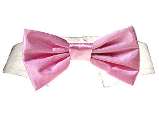 Dog Bow Tie - Pink Satin