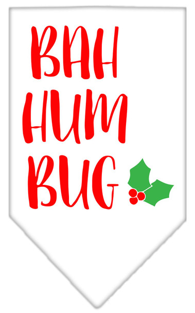 Bah Humbug Screen Print Bandana - White