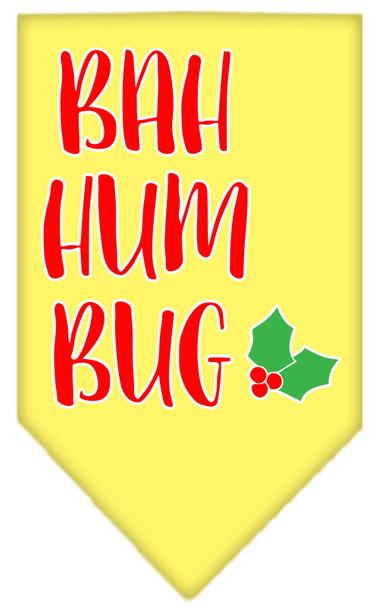 Bah Humbug Screen Print Bandana - Yellow