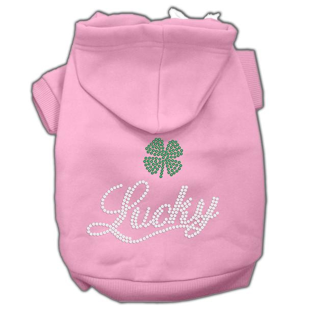 Lucky Rhinestone Hoodies - Pink