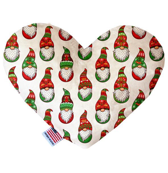 Santa Gnomes Heart Dog Toy, 2 Sizes