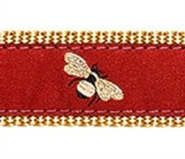 Burgundy Bumblebee Dog Collars
